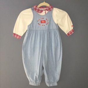 🛍Vintage Girl 24 month Baby B'Gosh Jean Bubble